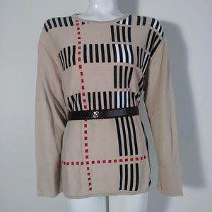 Burberry London knit pattern light cotton sweater